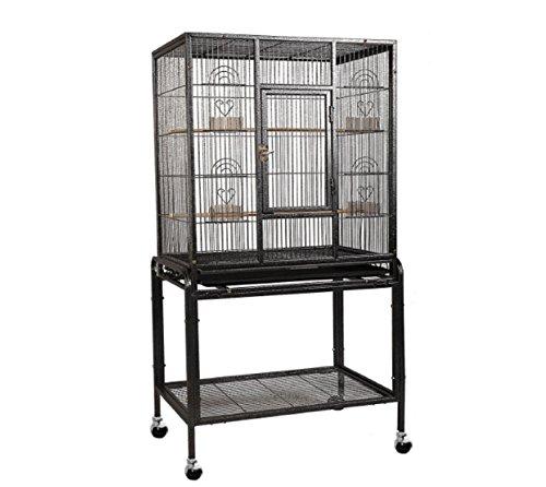 Cam Lock Stainless Steel Urn (Bird Parrot Cage Chinchilla Cockatiel Conure Large Cockatiel House Metal Wheels)