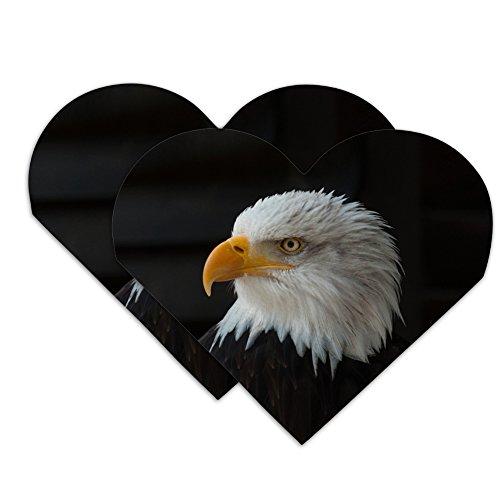 Stoic Bald Eagle Heart Faux Leather Bookmark - Set of 2