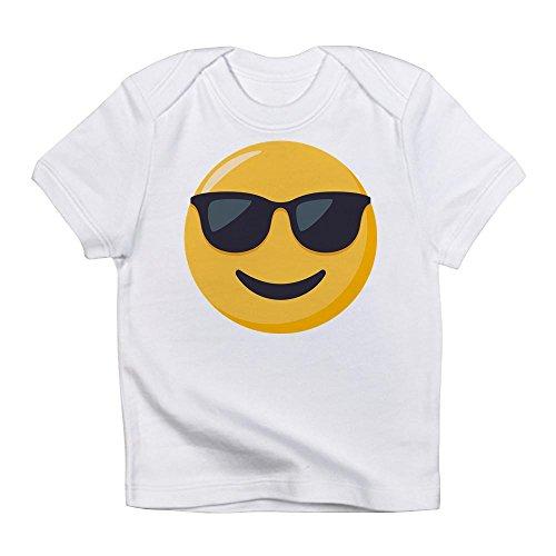 CafePress - Sunglasses Emoji - Cute Infant T-Shirt, 100% Cotton Baby - Inside Wearing Sunglasses