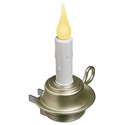 Xodus Innovations FPC1255P Rotating LED Flameless Candle Night Light Pewter: Home Improvement