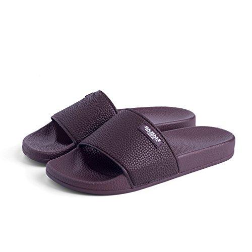 marrone 44 con minimalista fondo colori coppie fankou uomini pantofole piatto donna solidi calzature pantofole antiscivolo con soggiorno casual e Elegante PqqwtUAH