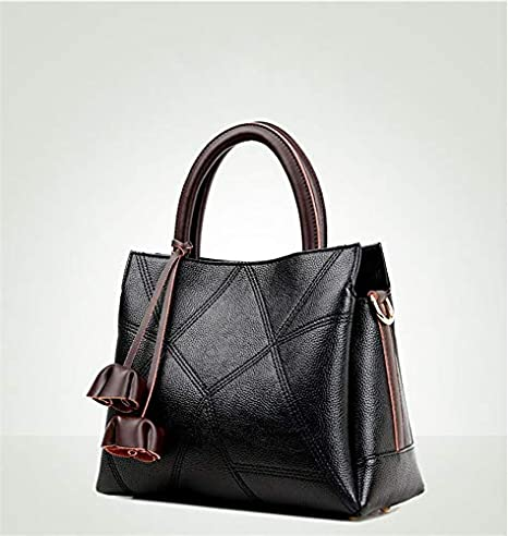Amazon.com: Genuine Leather Bag Female Large Capacity Tote ...