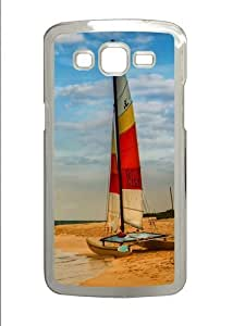 Boat on oahu beach Custom Samsung Grand 7106/2 Case Cover Polycarbonate Transparent