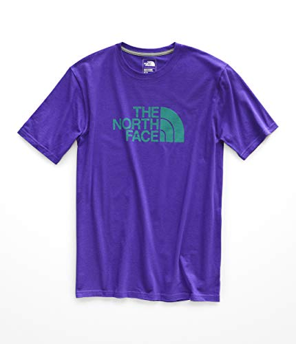 The North Face Men's Short Sleeve 1/2 Dome Tee Deep Blue/Porcelain Green Large