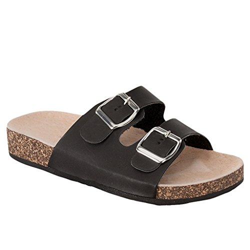 Women Casual Buckle Straps Sandals 8.5 US (Black-11)
