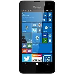 Microsoft Lumia 550 Smartphone LTE, Display 4.7' Pollici HD LCD (1280x720), 8 GB Memoria interna, Processore Quad Core Snapdragon 210, Nero [Italia]