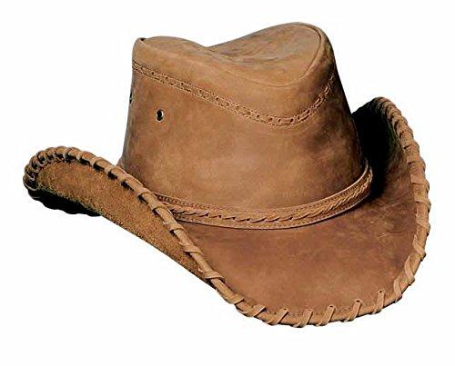 Bullhide ''Sydney'' Top Grain Leather Western Hat by MonteCarlo