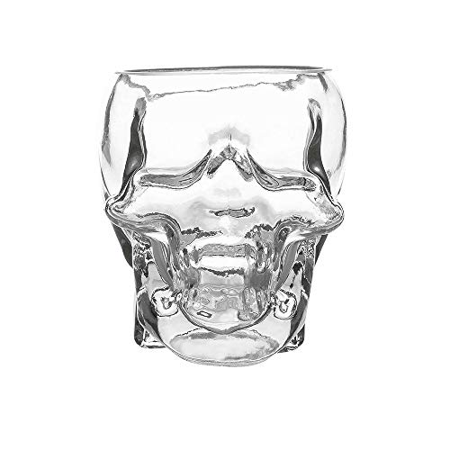 Crystal Skull Head Cup Pirate Shot Glass for Wine Vodka Whiskey Cocktail Party Bar Cup