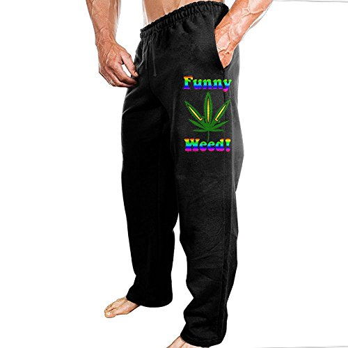 Price comparison product image Grhoodie1 Funny Weed Men's Workout Pants Black Size L