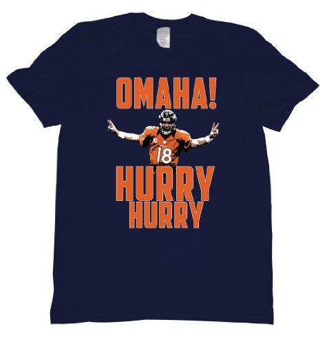 Manning Game Jersey - Omaha Hurry Hurry Manning Tee Shirt Mens L navy U