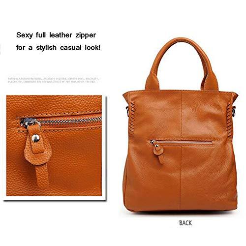 à Fourre Bandoulière Retro Main,Femmes Bag Sacs Main Designer tout à Sac Grand En Cross Brown Véritable Body Sacs Cuir à dxwSqdT