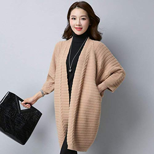 Eleganti Eleganti Eleganti di Donne Lunghe Lunghe Lunghe Lunghe Cappotto Tasche Laterali Betrothales Pullover Kamel Cardigan tUApqwEt
