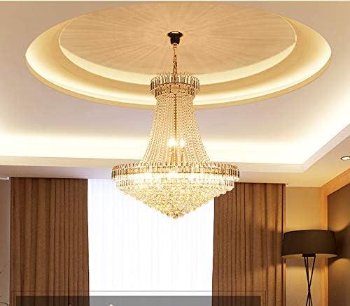 LIGHT*KUO Luz de araña de Cristal de Oro Escalera Ligera Lámpara de iluminación LED Lustres de Cristais Lustre de Cristal Diámetro 40 60 80 CM,Dia60CMMold: Amazon.es: Hogar