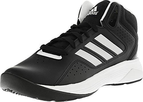 adidas Men's Cloudfoam Ilation Mid Basketball Shoes, Core Black/Matte Silver/White, ((9 W US)
