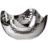 Elegance-72656-Hammered Small Wave Stainless Steel Bowl