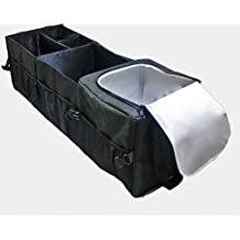 Untimate Car Trunk Organizer - Best for SUV, Vehicle, Truck, Auto, Grocery, Home & Garage - With Premium Insulation Cooler Bag, 12 Pockets, Adjustable Compartment