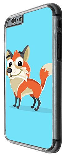 1144 - Cute Fun Fox Animal Drawing Blue Design For iphone 5C Fashion Trend CASE Back COVER Plastic&Thin Metal -Clear