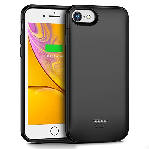 Battery Case for iPhone 6S 6, 4000mAh Portable Protective Charging Case for iPhone 6 6S(4.7 inch) Battery Case, Extended battery Pack Charger Case Compatible with iPhone 6S 6(Black)