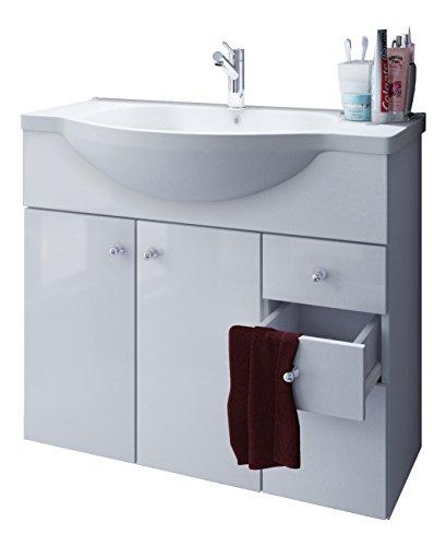 VCM Waschplatz Misalo ll, Badmöbel Unterschrank + Waschbecken, Waschtisch