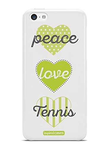 Inspired Cases 3D Textured Peace Love Tennis Case for iPhone 5c (Tennis Cases For Iphone 5c)