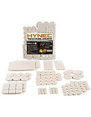 Hynec Premium Möbelschoner / Filzgleiter Großes Set mit 8 verschiedenen selbstklebenden Stickern aus Filz für Möbel Stuhl / Selbstklebend Filzunterlage