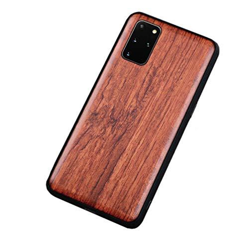 Homi2019 Hölzern Handyhülle Kompatibel mit 6666 Hülle Holz Schutzhülle und TPU Hybrid Handyhülle case Cover flip schutzhülle (Rosenholz)