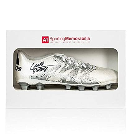 Image Unavailable. Image not available for. Color  Luis Suarez Signed  Football Boot White Adidas X 15.4 - Gift Box Autograph - Autographed Soccer 182951ac4