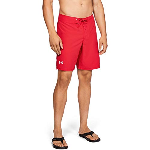 Under Armour Shore Break Emboss Boardshort, Red//White, 30