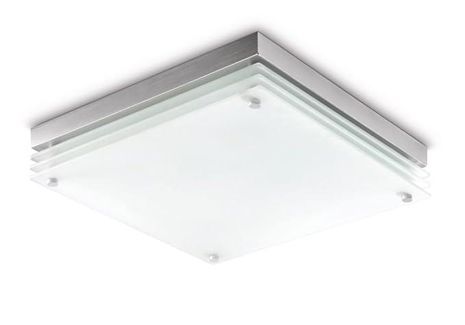 Plafoniere Quadrate Eleganti : Oeegoo 24w ip44 led plafoniera lampada da soffitto quadrata