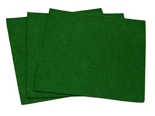Sticky Back Self Adhesive Acrylic Felt Fabric 18' Square Olive Green - each Minerva Crafts