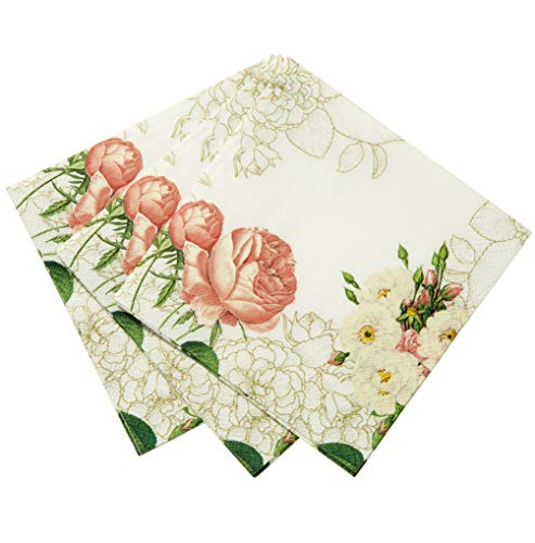 Talking Tables Blossom & Brogues Floral Disposable Napkins for a Wedding or Tea Party, Multicolor (20 (Floral Napkin)
