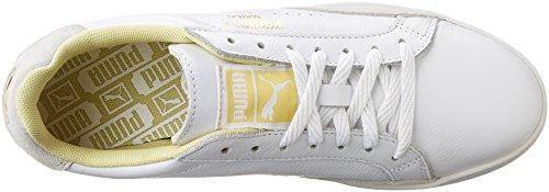 PUMA Damen Match Lo Basic Sport Sportstyle Sneaker Weiß / Mellow Yellow
