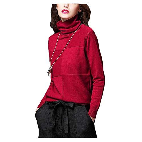 Autunno Mucchio collo maglione Ju e sheng a maniche Bottom Red inverno trasversale lunghe Collare Bottom Nuovo alto wS11vq57