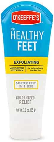 O'Keeffe's K0400008 Healthy Feet Exfoliating Foot Cream, 3 ounce Tube