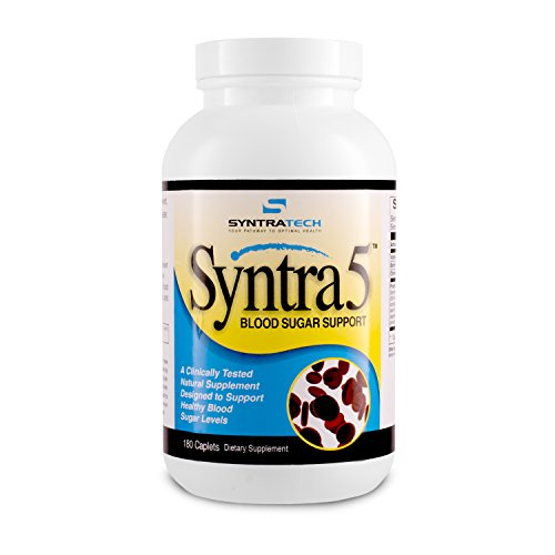 Support Sugar - Syntratech Syntra5 180 Caps - Multi-Faceted Blood Sugar Support Formula - Assists In Maintaining Healthy Blood Sugar Levels - Backed By Clinical Research