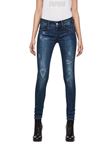 Skinny G D Super W mid Darblue Jeans star Lynn SS1PqxwXp