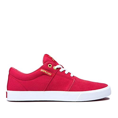 Supra Footwear - Stacks Vulc II Low Top Skate Shoes, Rose-White, 13 M US Women/11.5 M US Men from Supra Footwear