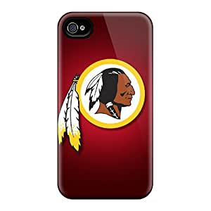 Anti-Scratch Hard Phone Covers For Iphone 6plus With Unique Design Trendy Washington Redskins Pattern Marycase88