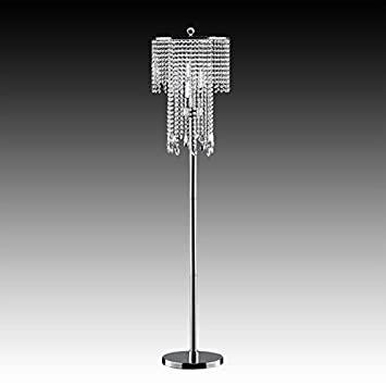 chandelier floor lamps australia crystal table lamp shade waterford shades bead curtain chrome