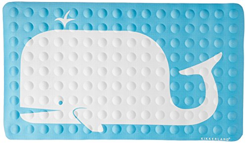 Kikkerland Bathmat, Whale, Natural Rubber High Grip Suction Cup, 27 by 15-inches