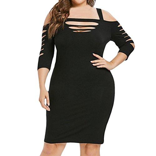 GoodLock Womens Fashion Sexy Dress Solid Half Sleeve