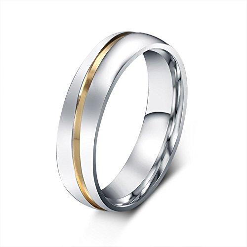 Beydodo Titanium Rings Set for Women Stainless Steel Ring Bands Round CZ Women Size 7 & Men Size 12 by Beydodo (Image #5)