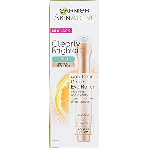 Garnier SkinActive Clearly Brighter Tinted Eye Roller, Light/Medium, 0.50 Ounce
