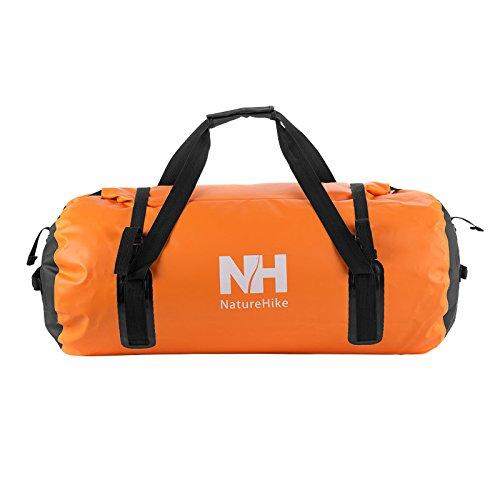 60L Big Size sacchetto asciutto impermeabile Borsa di stoccaggio esterna Rafting sacchetto esterno borsa da viaggio(orange)
