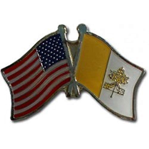 ALBATROS Pack of 3 USA American Vatican City Flag Hat Cap Lapel Pin for Home and Parades, Official Party, All Weather Indoors -