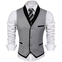 COOFANDY Men's Suit Vest Slim Fit Business Wedding Waistcoat