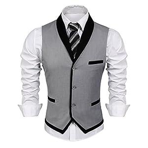Best Epic Trends 41WgbOExoWL._SS300_ COOFANDY Men's Suit Vest Slim Fit Business Wedding Vests Dress Waistcoat