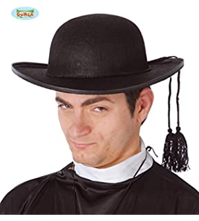 aa1a92560f5f6 DISBACANAL Sombrero de Cura con cordón - Negro  Amazon.es  Juguetes ...
