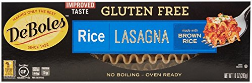 De Boles Gluten-Free Rice Pasta Lasagna - 10 oz (Free Deboles Gluten Pasta)