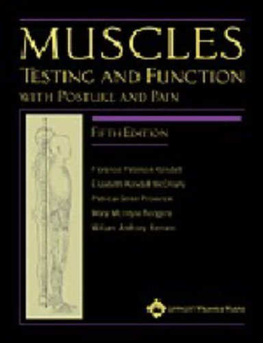 Muscles: Testing and Function with Posture and Pain by Florence Kendall (2005-02-01)